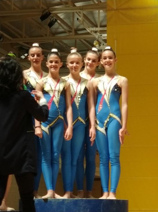 Foto 2 - El Gimnasia Duero, líder en el Povincial de gimnasia rítmica