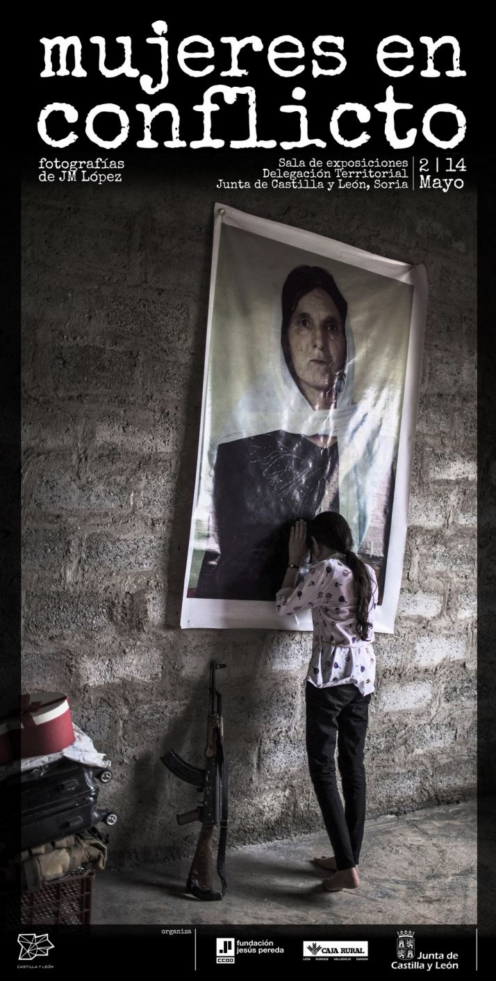 Foto 1 - El retrato de la guerra 'Mujeres en conflicto', de J. M. López, se inaugura mañana en Soria