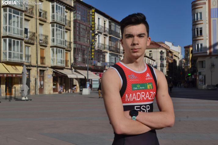 Pedro Madrazo, corredor Cadete del Triatlón Soriano. SN