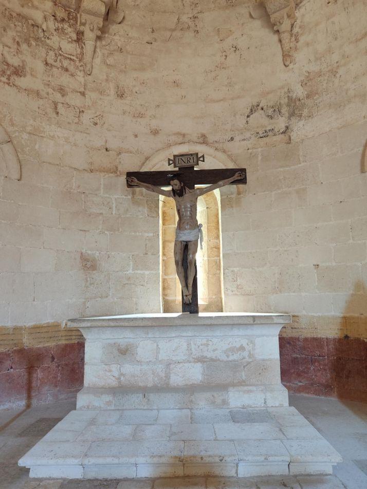 Una imagen de las actuaciones en la ermita. /DOS