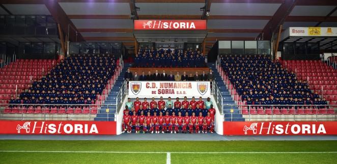 Foto oficial del CD Numancia en la temporada 2018-19. CD Numancia