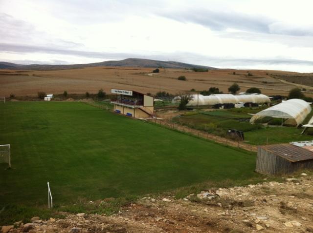 Estadio de la Sampedrana, el cual acoge la final de la Copa Diputación 2019.
