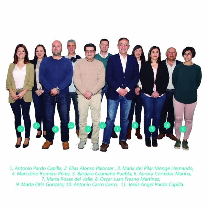Lista electoral de la PPSO en El Burgo de Osma.