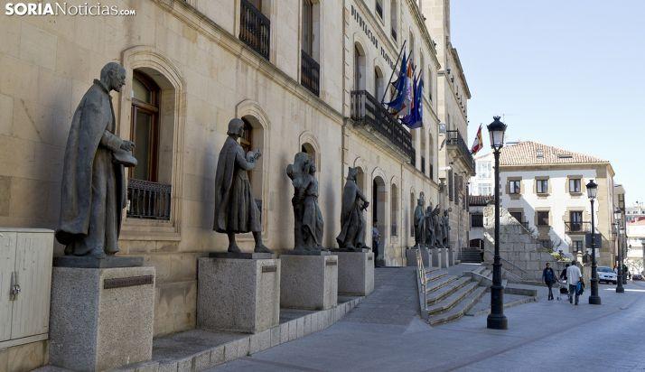 Imagen del Palacio Provincial, sede de la Diputación de Soria. /SN