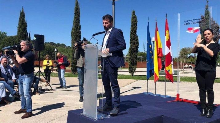 Luis Tudanca, este sábado en la presentación de su programa de gobierno. /PSCyL