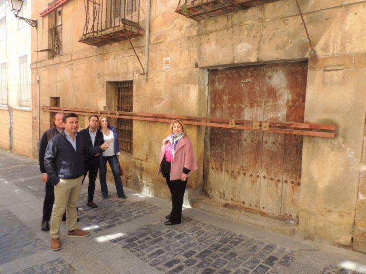 Visita de los candidatos del PP al Casco Histórico de Soria.