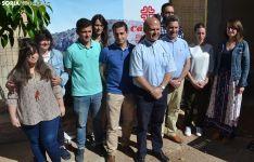 El equipo de Cáritas tras la presentación de la Memoria 2018. /SN