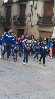 Una de las imágenes de la ofrenda floral agredeña. /Ainalb Alomar