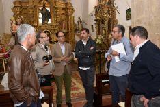 Visita oficial este jueves al templo en restauración. /Jta.