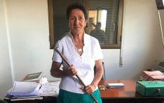 María Jesús Gañán, tras tomar posesión de su cargo.