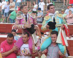 Escribano y Pinar, por la puerta grande en Soria. /Tauroemocion