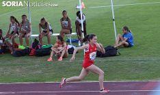 La joven atleta soriana en pleno esfuerzo. /SN