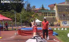 La joven atleta soriana en lanzamiento de jabalina. /SN