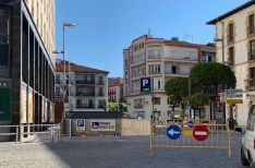 Obras en la zona de Mariano Granados.