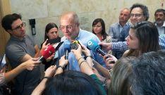 Francisco Igea, este viernes ante los medios informativos castellano-leoneses.