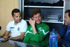 Javi Modrego, entre lágrimas, anuncia su adiós como entrenador del CD San José. CD San José