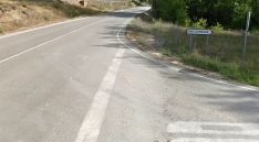 Entronque de la SO-100 con la carretera que lleva a Los Llamosos. /GM