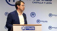 Fernández Mañueco, este lunes en la junta directiva regional del PP este lunes.