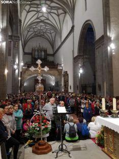 Imagen del santuario esta mañana a las siete, en la Misa de Peregrinos. /SN