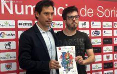 Javi del Pino (izda.) y Bernat Díez en la presentación del torneo esta mañana de jueves. /SN