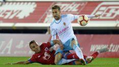 El Numancia se deshizo del Zaragoza (1-0) durante la ida en Los Pajaritos. LaLiga
