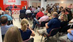 Asamblea esta tarde de lunes en la sede de los socialistas, en la capital.