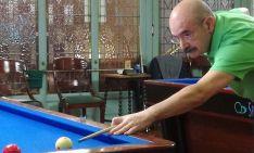 Pedro Camarero, billarista del club del Casino.