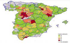 Las zonas afectadas a fecha de 30 de mayo. /Unión de Uniones