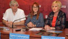 Valoria, Calvo y Soria en la presentación de 'Somos Trashumantes 2019'. /Ayto.
