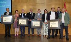Galardonados en la 12ª edición de los Premios al Cooperativismo y Economía Social de CyL este año.