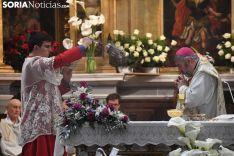 Una imagen de la solemnidad mariana en Ágreda este sábado. /Nacho Grijalbo