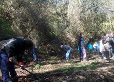 Foto 5 -  Jornada de hacenderas en Sarnago para mejorar el pueblo
