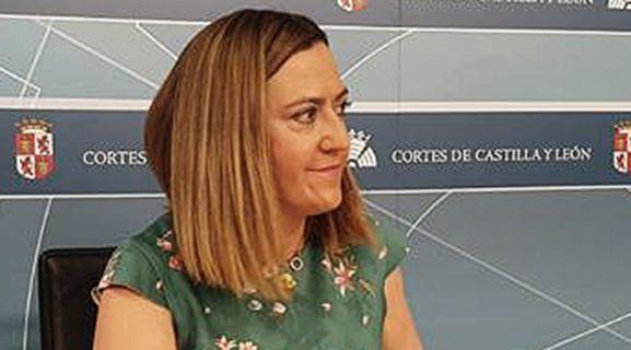 Virgina Barcones en una comparecencia de prensa.