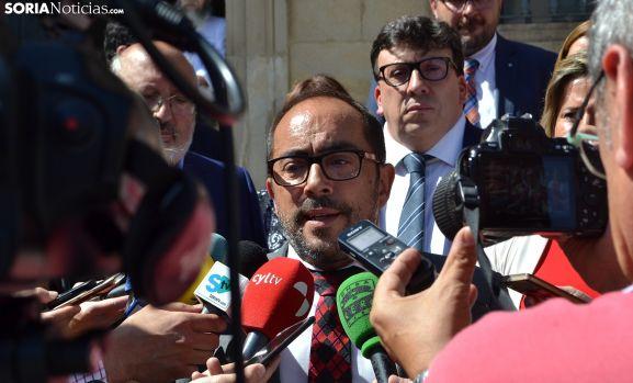 Luis Rey, minutos antes del pleno constitutivo. /SN