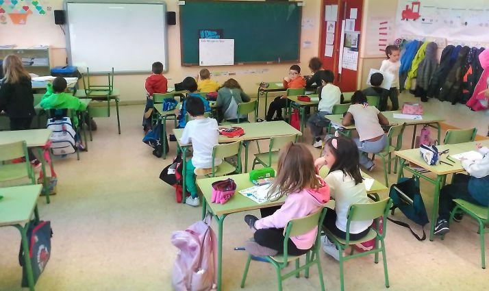 Escolares en una sesión divulgativa de Agua de Soria. /AdS