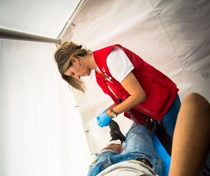 Atención. Cruz Roja