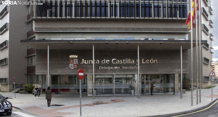 Imagen de archivo de la sede de la Junta en Soria. /SN