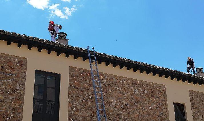 Imagen de las labores de los bomberos. /Ayto.
