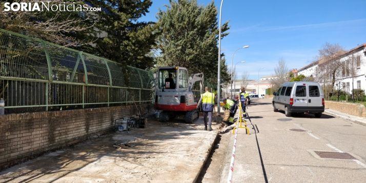 Obras de aceras y asfaltado en la capital. SN