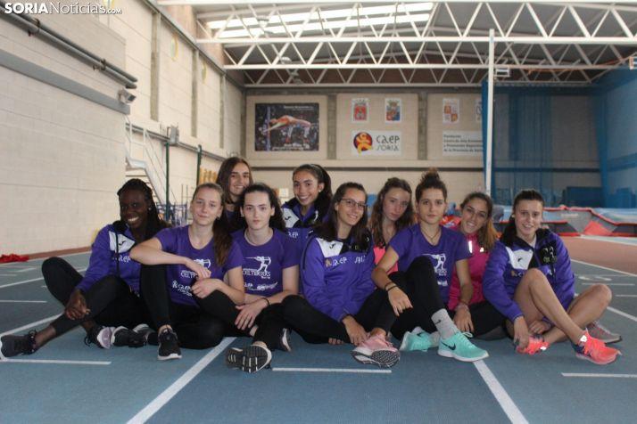 Algunas de las integrantes de Las Celtíberas en el CAEP. SN