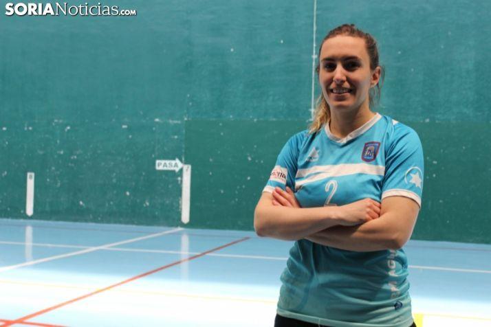 Laura Jiménez, la '2' del BM Ágreda se confiesa en Soria Noticias.