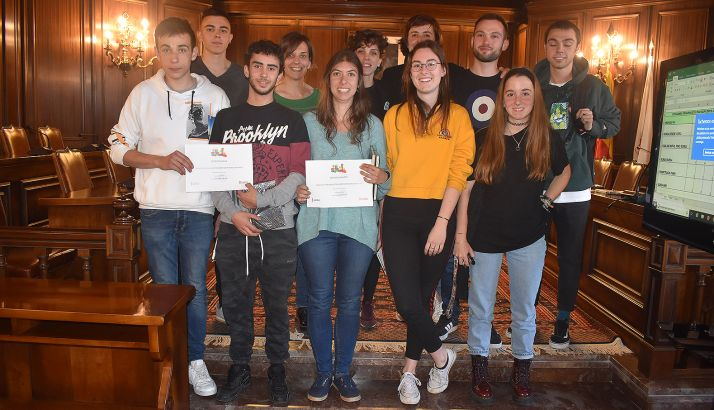 Jóvenes participantes en la convocatoria municipal. /Ayto