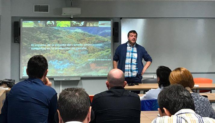 Roberto Rubio, técnico de Cesefor, en su intervención en Palencia.