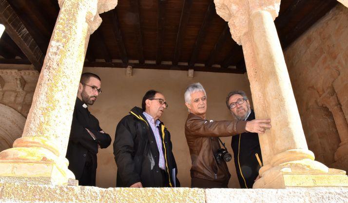 Una imagen de la visita oficial este viernes al templo. /Jta.