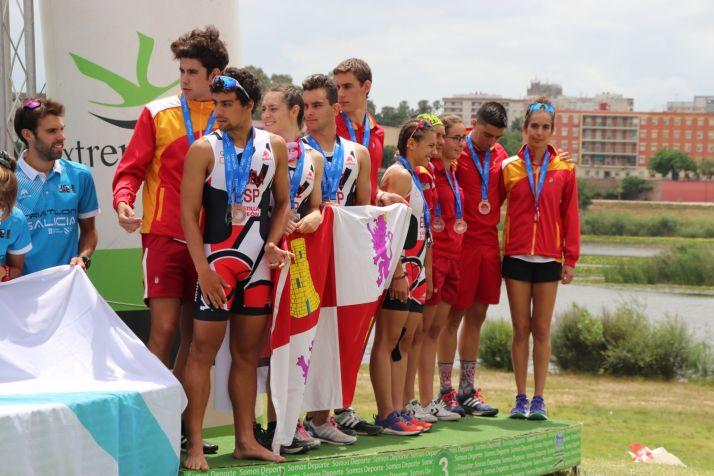 Foto 1 - Tres sorianos con la selección de Castilla y León de Triatlón