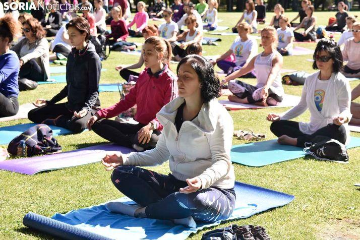 GALERÍA: Día Mundial del Yoga en Soria