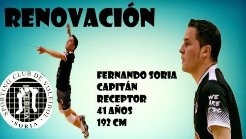 Foto 1 - Fernando Soria renueva otra temporada con el Sporting Club de Voleibol