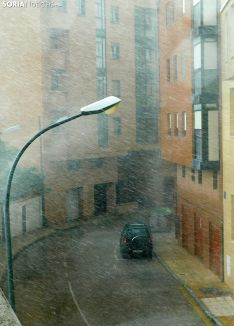 Imagen de la borrasca en la calle Venerable Carabantes. /SN