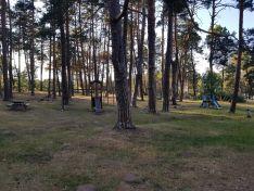 Estado del parque infantil de la Playa Pita.