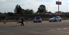 La Policía Local en el lugar del siniestro. /SN